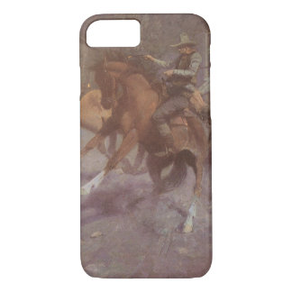 Fight at the Roundup Saloon by EW Gollings iPhone 7 Case
