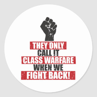 Fight Back Round Sticker