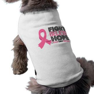 Fight Believe Hope - Breast Cancer Sleeveless Dog Shirt