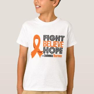 Fight Believe Hope - Leukemia T-Shirt