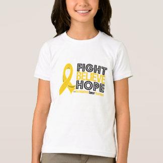 Fight Believe Hope - Neuroblastoma Cancer T-Shirt