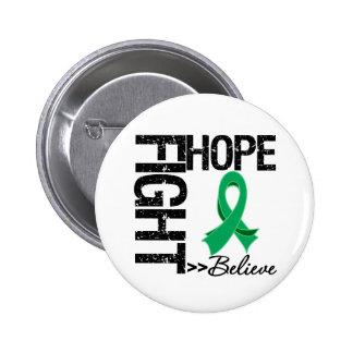 Fight Believe Hope v2 Liver Cancer 6 Cm Round Badge