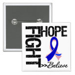 Fight Believe Hope v2 Male Breast Cancer Buttons