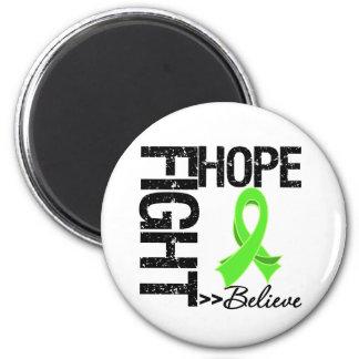Fight Believe Hope v2 Non-Hodgkin's Lymphoma 6 Cm Round Magnet