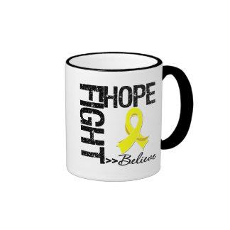 Fight Believe Hope v2 Sarcoma Ringer Mug