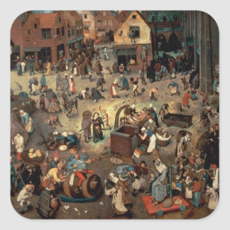 Fight between Carnival and Lent, 1559 Sticker