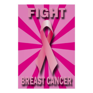 FIGHT BREAST CANCER POSTER PRINT
