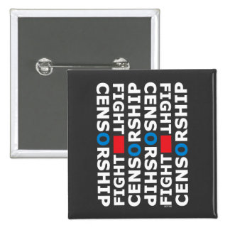 Fight Censorship 15 Cm Square Badge