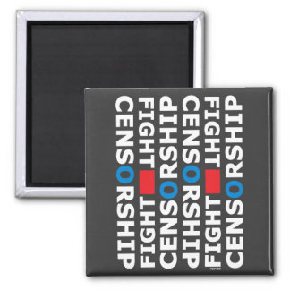 Fight Censorship Square Magnet
