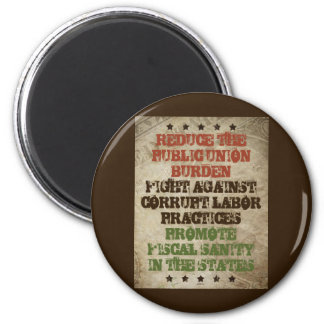 Fight Corrupt Labor 6 Cm Round Magnet