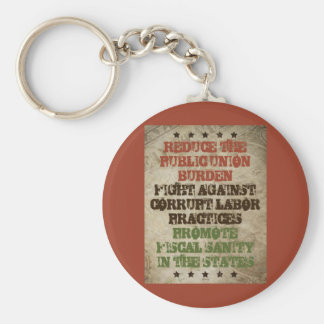 Fight Corrupt Labor Basic Round Button Key Ring