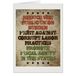 Fight Corrupt Labor Greeting Card