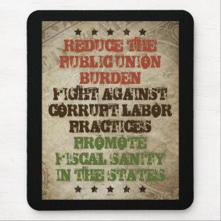 Fight Corrupt Labor Mouse Pad