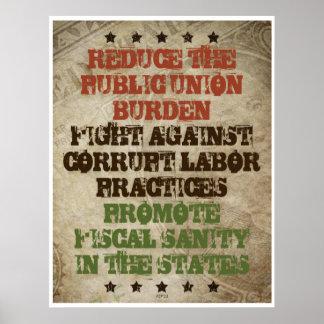 Fight Corrupt Labor Poster