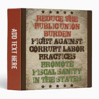 Fight Corrupt Labor Vinyl Binders