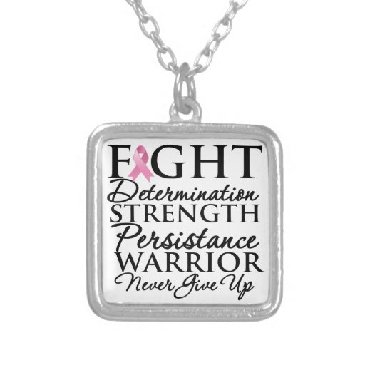 Fight Determination Persistence Breast Cancer Pendants