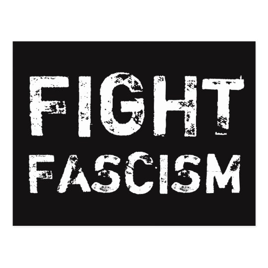 FIGHT FASCISM Social Justice Postcard