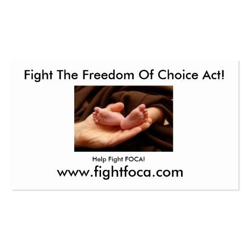 Fight FOCA! Business Cards