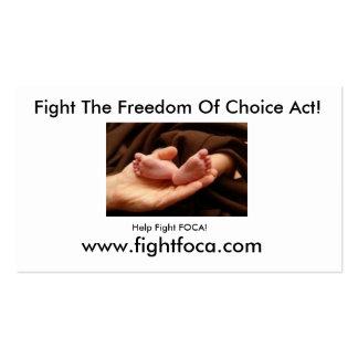 Fight FOCA! Pack Of Standard Business Cards