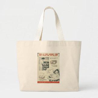 Fight Food Waste World War 2 Jumbo Tote Bag