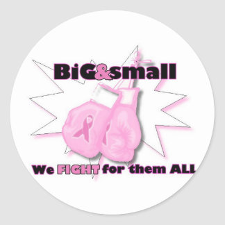 FIGHT for Breast Cancer Classic Round Sticker