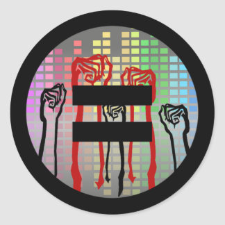 Fight for Equality Classic Round Sticker