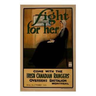 Fight For Her Canadian WW I Poster
