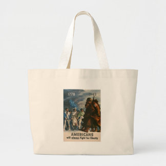 Fight For Liberty World War II Canvas Bags