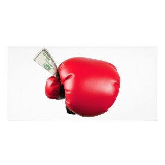 Fight for money picture card
