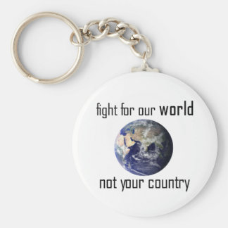 Fight for our world, not your country keyring basic round button key ring