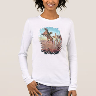 Fight for the Water Hole (colour litho) Long Sleeve T-Shirt