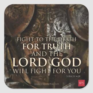 Fight For Truth Square Sticker