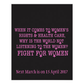 Fight for Women Flyer