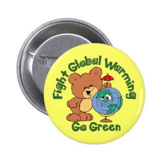 Fight Global Warming 6 Cm Round Badge