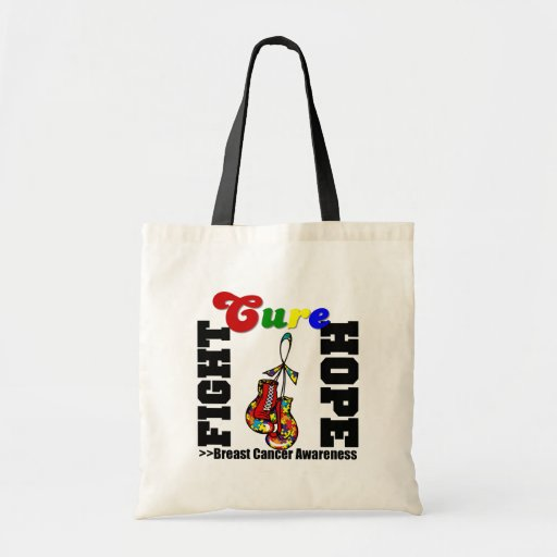 Fight Hope Cure - Autism Tote Bags