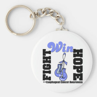 Fight Hope Win - Esophageal Cancer Basic Round Button Key Ring
