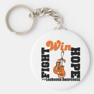Fight Hope Win - Leukemia Basic Round Button Key Ring