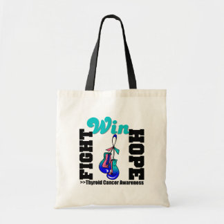 Fight Hope Win - Thyroid Cancer Budget Tote Bag