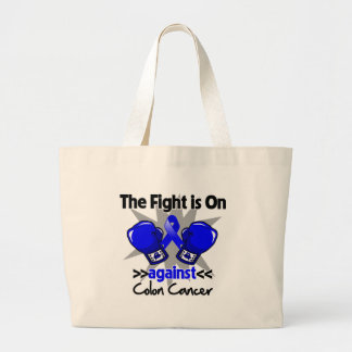 Fight is On Against Colon Cancer Jumbo Tote Bag