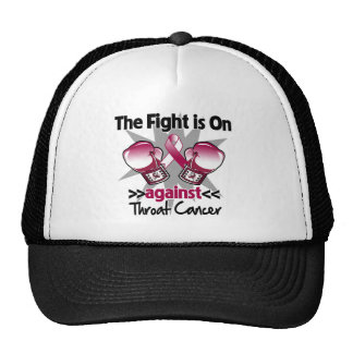 Fight is On Against Throat Cancer Trucker Hat