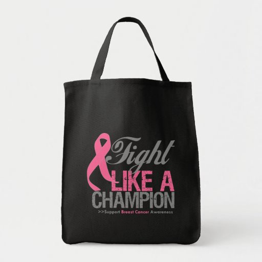 Fight Like a Champion Breast Cancer Canvas Bag