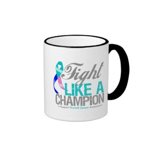 Fight Like a Champion Thyroid Cancer Coffee Mugs