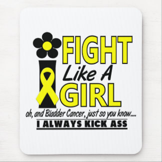 Fight Like A Girl 1.2 Bladder Cancer Mouse Pad