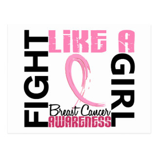 Fight Like A Girl 3 3 Breast Cancer Post Cards