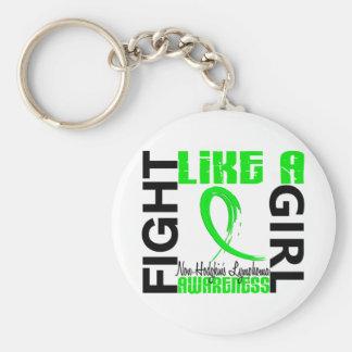 Fight Like A Girl 3.3 Non-Hodgkin's Lymphoma Keychain