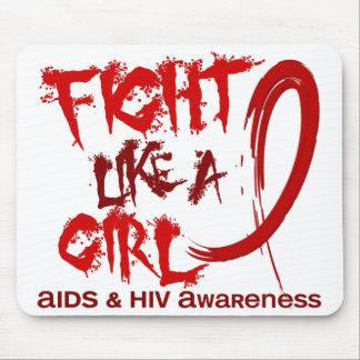 Fight Like A Girl 5.3 AIDS Mouse Pad