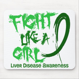Fight Like A Girl 5 3 Liver Disease Mouse Pads