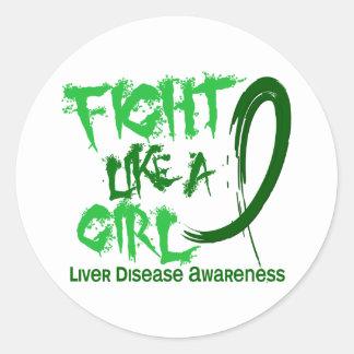 Fight Like A Girl 5.3 Liver Disease Sticker