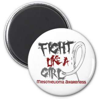 Fight Like A Girl 5.3 Mesothelioma 6 Cm Round Magnet