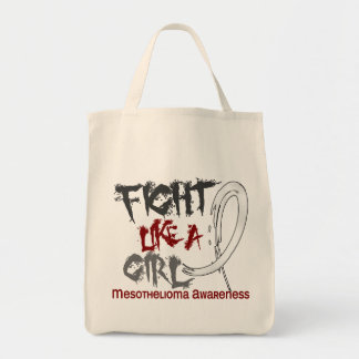 Fight Like A Girl 5.3 Mesothelioma Canvas Bags